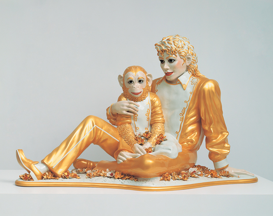 Jeff Koons: Michael Jackson and Bubbles, 1988