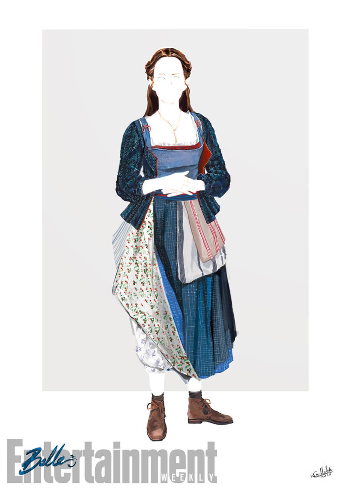 「19世紀後半に流行し、短いスカートの下にはく袋のように足首のところですぼめた女性用のズボン」であるブルマーを青いベルの服装に取り入れましたが、これは エマ・