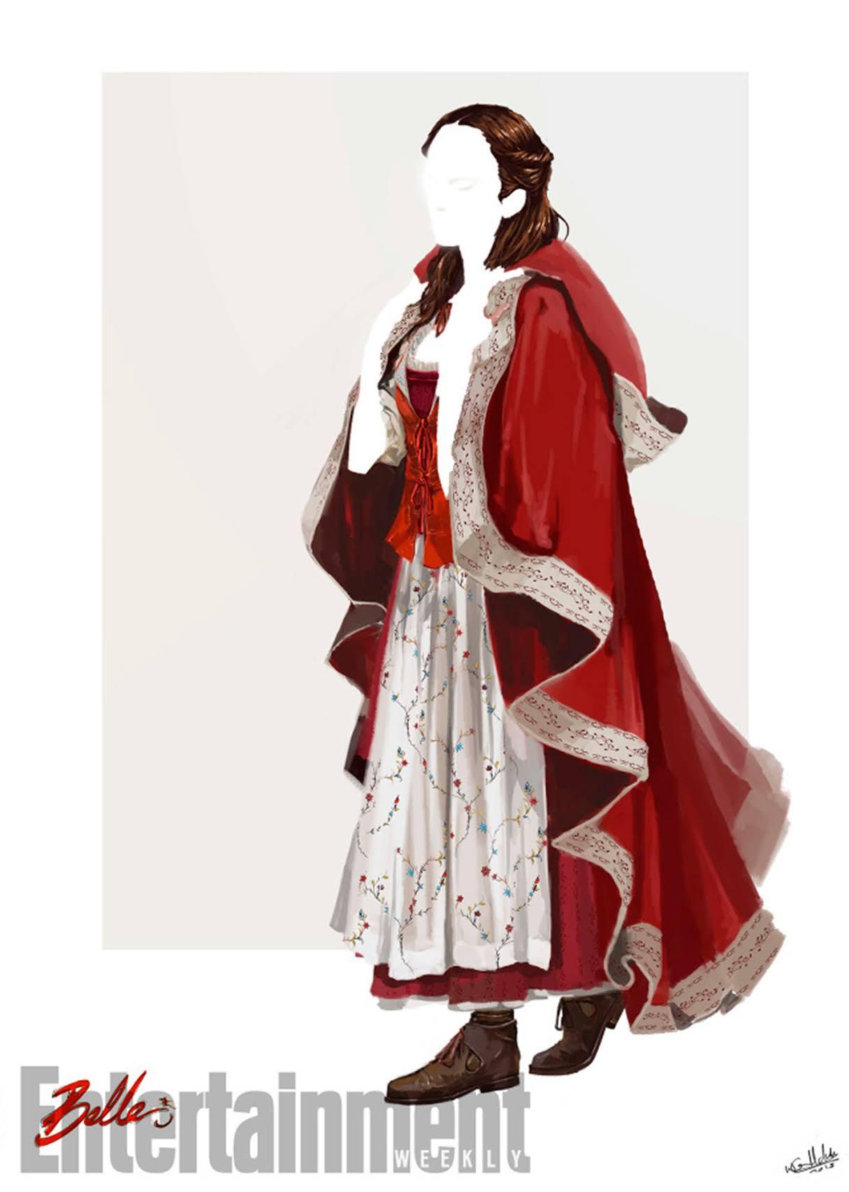 ベルの赤い衣装は環境に優しい素材で制作